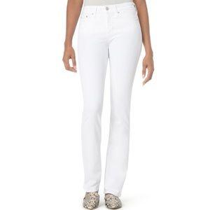NYDJ White Marilyn Straight Leg Jeans Plus Size